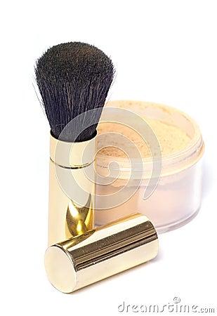 Free Powder Brush Royalty Free Stock Photo - 379185