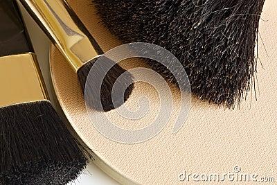 Powder and brushes