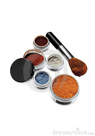 Powder set in assorted colors