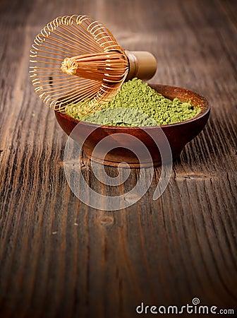 Free Powdered Green Tea Royalty Free Stock Image - 37230876