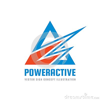 Free Power Active - Concept Business Logo Template Vector Illustration. Abstract Triangle And Sharp Shapes Creative Sign. Royalty Free Stock Photography - 108050957