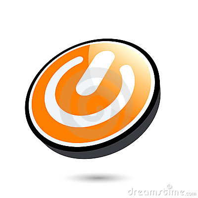 Free Power Button Royalty Free Stock Photos - 9165848