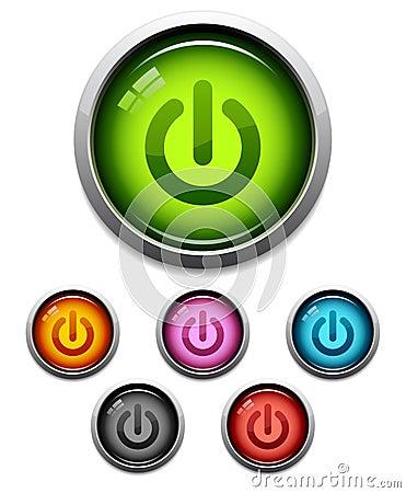 Free Power Button Icon Royalty Free Stock Photo - 6080565