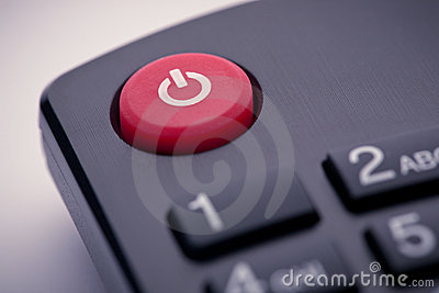 Power button on remote control