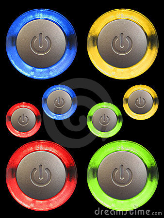 Free Power Buttons Royalty Free Stock Photography - 1064797