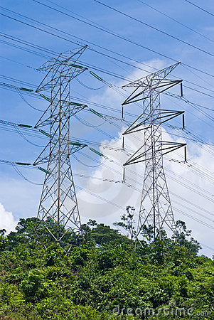 Free Power Electrical Transmission Lines Royalty Free Stock Photo - 12064865