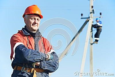 Power electrician lineman portrait