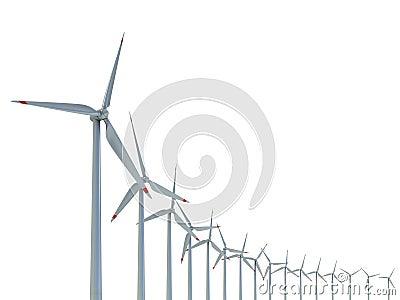 Power generation wind turbines