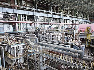 Power generator and steam turbine during repair
