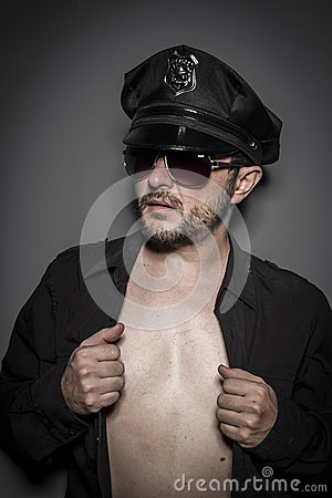 Power, Good looking policeman, sexy police with sunglasses over