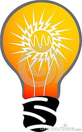 Power lamp logo