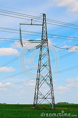 Power line pylon