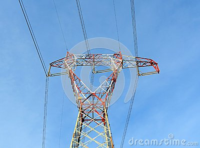 Power line pylon