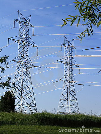 Free Power Line Pylons Stock Photography - 19671712