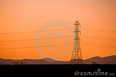 Power line sillouette