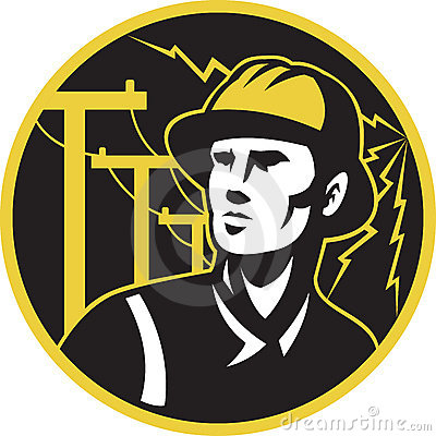Power lineman electrician repairman pole
