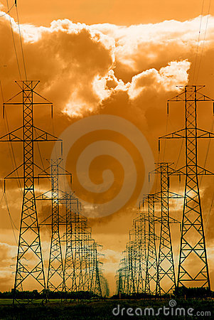Free Power Lines Royalty Free Stock Photos - 2364718