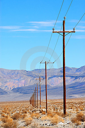 Free Power Lines Death Valley Stock Photos - 2150093