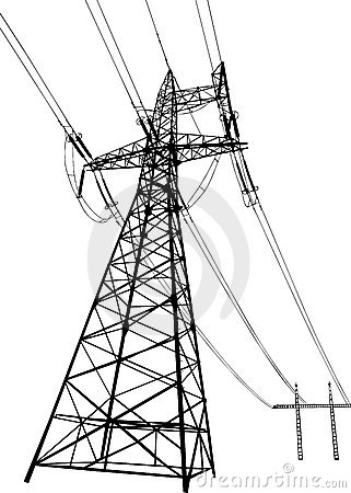 Power lines and electric pylons