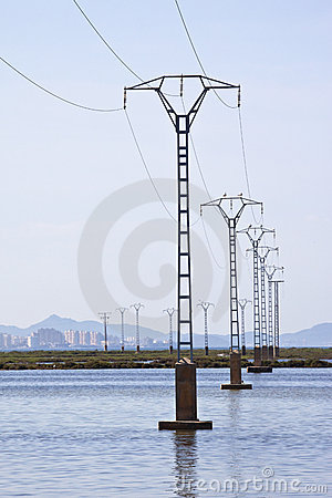 Power lines - Salt Flats - Murcia - Spain