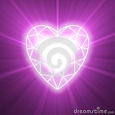 Power of love heart glowing flare