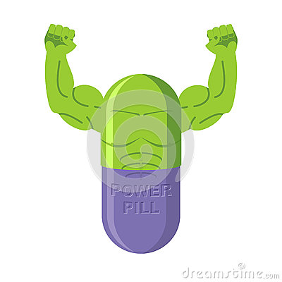 Power Pills. Tablets For Bodybuilding. Medication With Big