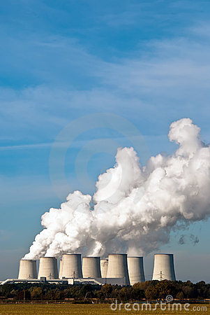 Free Power Plant Cooling Towers Upright V3 Stock Photos - 16769363