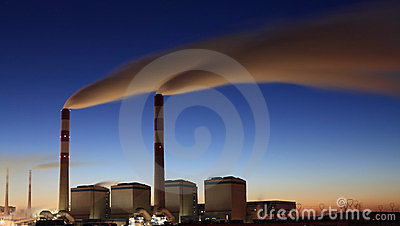 Power plant in morning