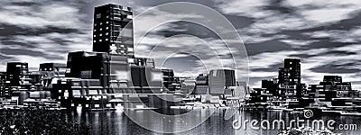 Power plant, panoramic