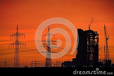 Power plant skyline