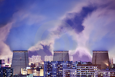 Power plant smoke