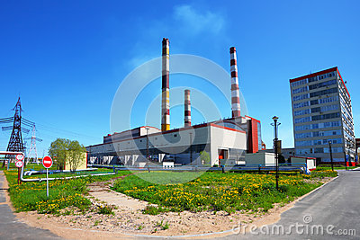 Power plant in a sunny day