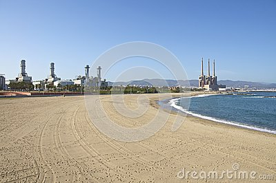 Power Plants close to the Beach, Barcelona