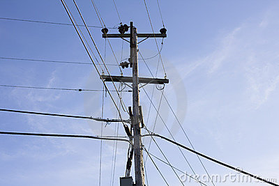 Power Pole and Wires
