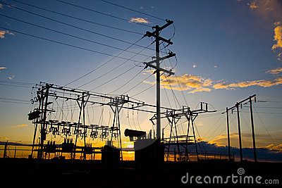 Power Poles at Sunset
