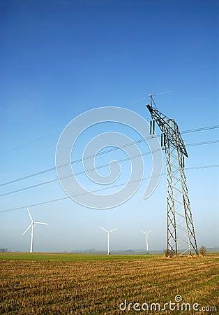 Free Power Pylons Royalty Free Stock Photo - 1392725