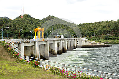 Power station at the Bhumibol Dam