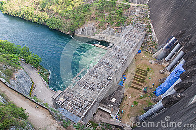 Power station at the Bhumibol Dam in Thailand