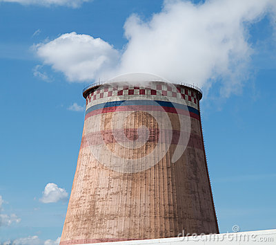Power station cooling tower. Moscow , Russia