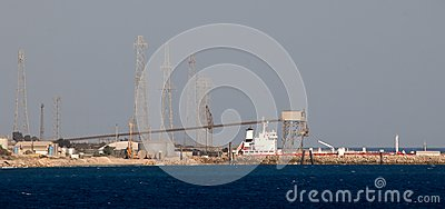 Power station in Cyprus Editorial Stock Photo