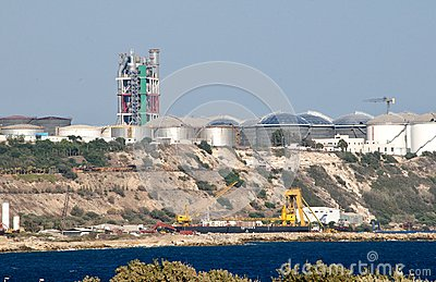 Power station in Cyprus Editorial Stock Image