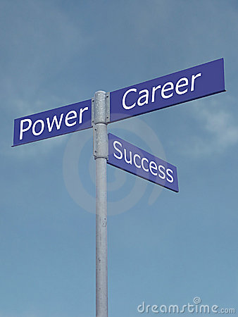 Free Power, Success And Career Directions Royalty Free Stock Images - 272859