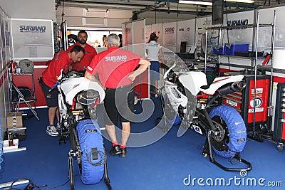 Power team by Suriano Triumph Daytona Editorial Image