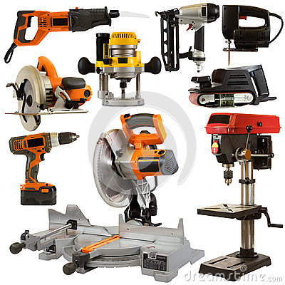 Free Power Tools Isolated On A White Background Royalty Free Stock Photo - 28864575