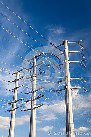 Free Power Transmission Electrical Lines Royalty Free Stock Image - 46859386