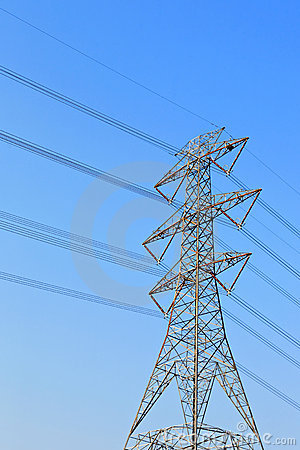 Free Power Transmission Tower Royalty Free Stock Photography - 17617507