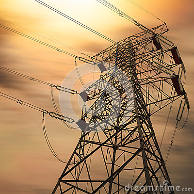 Free Power Transmission Tower Royalty Free Stock Photo - 28046615