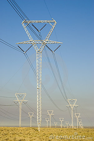 Free Power Transmission Towers Stock Photo - 6236370