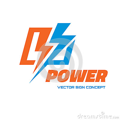 Free Power - Vector Logo Template Concept Illustration. Lightning Electricity Sign. Design Element Royalty Free Stock Image - 82994816