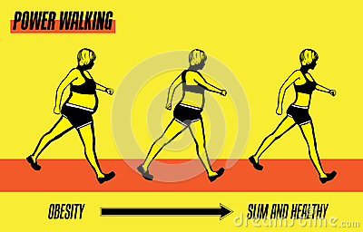Power Walking Exercise Illustration